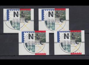 Niederlande ATM Mi.-Nr. 2.1 Typ FRAMA Satz 10-70-80-100 mit ET-O GRONINGEN