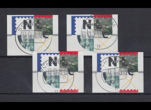 Niederlande ATM Mi.-Nr. 2.1 Typ FRAMA Satz 10-70-80-100 mit ET-O SCHIEDAM
