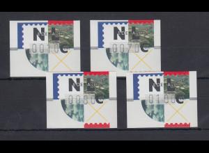Niederlande ATM Mi.-Nr. 2.1 Typ FRAMA Satz 10-70-80-100 **