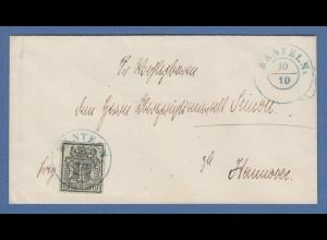 Hannover 1Ggr. mit Netzwerk Mi.-Nr. 9 als EF auf Brief von BANTELN nach Hannover