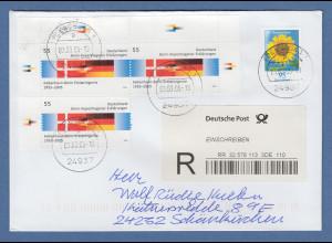 Deutschland 2005 Bonn-Kopenhagener Erklärungen Mi.-Nr. 2449 3x auf R-Brief