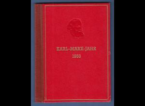 DDR 1953 sog. Karl-Marx-Büchlein Gedenkblätter gest. mit Sonderstempel BERLIN W8