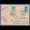Bizone Kölner Dom 50Pfg Mi-Nr. 72 in MIF auf R-Brief München Handwerksmesse 1949