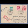 Bizone Exportmesse 20Pfg Mi.-Nr. 104 auf R-Brief München Handwerksmesse 1949