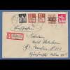 Bizone 18.9.48 R-Brief gel. von München nach Berlin, MIF Bandaufdruck mit Bauten