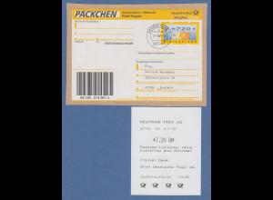 Deutschland ATM Mi.-Nr. 3.3 hoher Wert 720 Pfg auf Päckchenadresse, O REGENSBURG