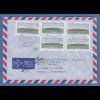 ATM Mi.-Nr. 2.1.1 Wert 20 5x auf Retour-Brief nach Frankreich, O LÜNEBURG 1995