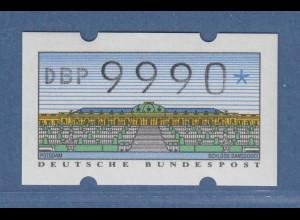 ATM Sanssouci NAGLER-Typendruck Mi.-Nr. 2.1.2 Höchstwert 9990 **