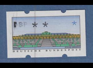 ATM Sanssouci NAGLER-Typendruck Mi.-Nr. 2.1.2 Teildruck nur DBP ** SELTEN !