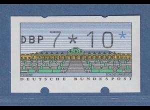 ATM Sanssouci Mi.-Nr. 2.1.1 Wertfehldruck 7*10 postfrisch