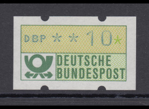 ATM mit blaugrauem Werteindruck, sog. Blaue Hannover, Wert 10 Pfg **