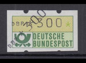 ATM Mi.-Nr. 1.1 Doppeldruck Wert 300 1x normal, 1x diagonal **