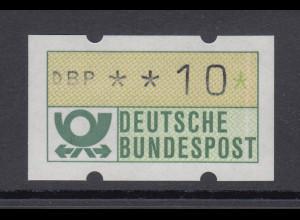 ATM Mi.-Nr. 1.1 Druckausfall der grünen Farbe als senkr. weißer Strich rechts !