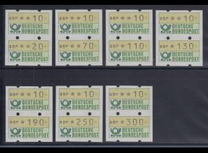 ATM Satz VS2 7 Werte 20-70-110-130-190-250-300 je mit 10 Pfg-Wert in 7 Paaren