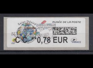 Frankreich 2018 ATM Postmuseum Saint Désiré Wert CC 0,78 EUR **