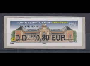 Frankreich 2018 ATM Exposition Valenciennes Wert DD 0,80 EUR **