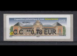 Frankreich 2018 ATM Exposition Valenciennes Wert CC 0,78 EUR **