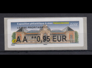 Frankreich 2018 ATM Exposition Valenciennes Wert AA 0,95 EUR **