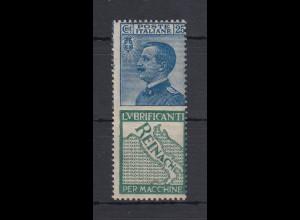 Italien 1924/25 Marke mit Reklamefeld Mi.-Nr. 90/R4 **