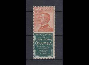 Italien 1924/25 Marke mit Reklamefeld Mi.-Nr. 225/R1 **