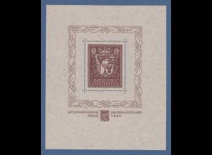 Liechtenstein 1934 Vaduz-Block ** einwandfrei in Top-Qualität !