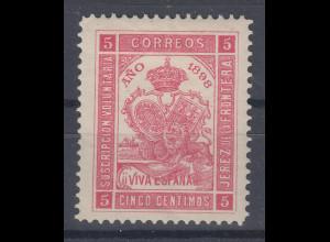 Spanien 1898 JEREZ DE LA FRONTERA, Marke sauber *