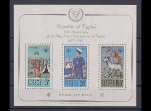 Zypern 1963 Pfadfinder Mi.-Nr. Block 1 postfrisch **