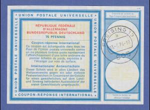 Bundesrepublik Internationaler Antwortschein 75 Pfennig IAS 8 gebraucht