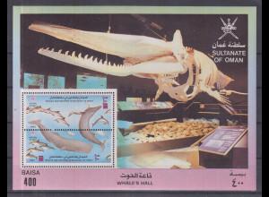 Oman 1993 Blockausgabe Wale und Delphine **