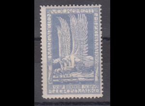 Deutsches Reich 1912 halbamtliche Flugpostmarke 50Pfg Mi.-Nr. 4.