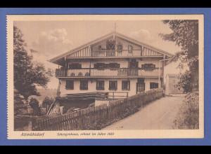Alte AK 84453 Ecksberg Schergenhaus erbaut im Jahre 1682, unbeschrieben