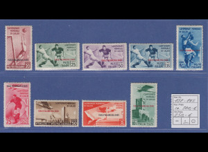 Ägäische Inseln 1934 Fussball-Weltmeisterschaft Mi.-Nr. 137-145 Satz 9 Werte *