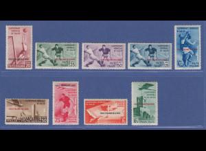 Ägäische Inseln 1934 Fussball-Weltmeisterschaft Mi.-Nr. 137-145 kpl. Satz *