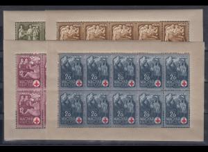 Ungarn 1942 Rotes Kreuz Mi.-Nr. 691-94 Kleinbogensatz **