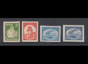 Estland 1932 Uni Dorpat / Sängerfest 4 ungezähnte PROBEDRUCKE, alle **