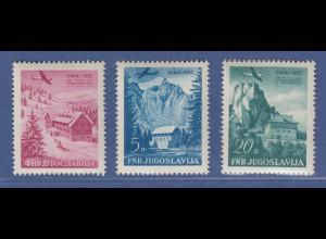 Jugoslawien 1953 Tagung Alpine Vereinigungen Mi.-Nr. 655-57 Satz **