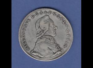 Salzburg 1784 Hieronymus von Colloredo 1 Taler sehr schöne Erhaltung !