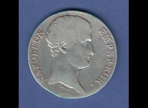 Frankreich Napoleon 1806 Silbermünze NAPOLEON EMPEREUR 5 Francs, Erhaltung schön