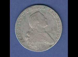 Sachsen Friedrich August Silbermünze Eine feine Marck 1767 E.D.C. sehr schön