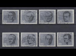 Bundesrepublik 1964 Einzelmarken aus Widerstands-Block Mi-Nr. 431-38 Satz kpl. O
