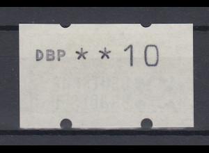 ATM Typendruck NAGLER, Mi.-Nr. 1.2 seltener Gummidruck **