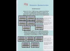 ATM-Sammlung Deutschland 1994-2002 dabei Posthorn-DBP, Mettler-Toledo, Samkyung