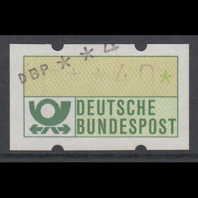ATM Mi.-Nr. 1.1 Doppeldruck Wert 40Pfg. Unterer ohne, oberer mit Farbband.