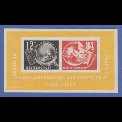 DDR 1950, Briefm.-Ausstellung Leipzig DEBRIA-Block Mi.-Nr. Block 7 **