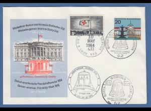 Deutsch-Amerikanische Freundschaftswoche 1964 Beleg Briefmarken-Club Wiesbaden
