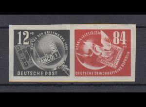 DDR 1950 Einzemarken aus DEBRIA-Block, Mi.-Nr. 271-72 als ZSD-Paar **