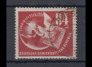 DDR 1950 DEBRIA Leipzig Mi-Nr. 260 sauber gestempelt DRESDEN 18.7.50