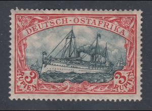 Deutsche Kolonien Dt.-Ostafrika 3 Rupien Kriegsdruck Mi.-Nr. 39IIAd ungebraucht