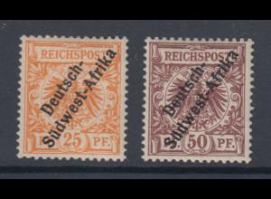 Deutsche Kolonien Deutsch Südwest-Afrika Mi.-Nr. Ia und II ungebraucht *