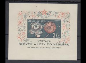 Tschechoslowakei CSSR 1963 Raumfahrt Raumstation Blockausgabe Mi.-Nr. Bl. 19 **